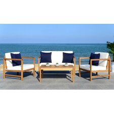 Chase 4 Piece Lounge Seating Group with Cushion