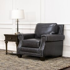 Benson Leather Club Chair by 17 Stories