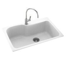 """33"""" x 22"""" Drop-In Kitchen Sink"""
