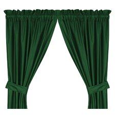 Window Treatment set Solid Semi-Sheer Rod pocket Curtain Panel (Set of 2)