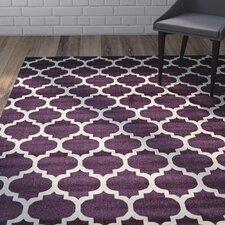 finch purple area rug