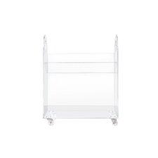 """Presto Acrylic 26"""" Bookcase and Cart"""