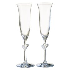 Heart Frosted 150ml Champagne Flute (Set of 2)