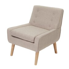 Reese Tufted Fabric Retro Armchair
