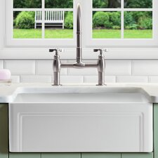 "Olde London 30"" x 18"" Farmhouse Kitchen Sink with Grid"