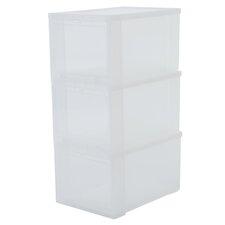 3-tlg. Aufbewahrungsbox aus Kunststoff