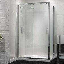 120cm W x 80cm D x 185cm H Rectangular Sliding Door Shower Enclosure