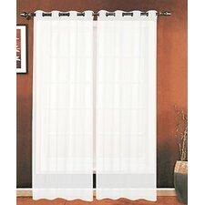 Mirabella Solid Sheer Grommet Single Curtain Panels
