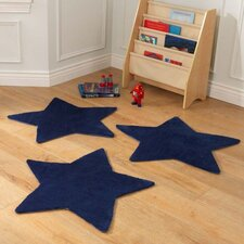 Stars Blue Area Rug (Set of 3)