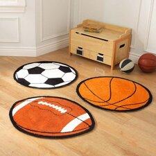 Sports 3 Piece Orange Area Rug Set