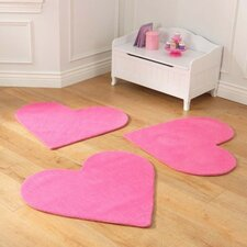 Hearts Pink Area Rug (Set of 3)