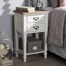 Bryan Wood 2 Drawer Nightstand by Highland Dunes