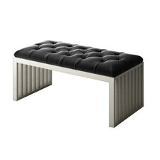 Ahumada Velvet Tufted Upholstered Bedroom Bench by Everly Quinn