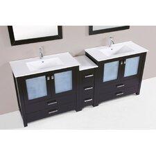 Lyn Modern 83 Double Bathroom Vanity Set by Latitude Run