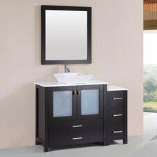 Lyn Modern 48 Single Bathroom Vanity Set with Mirror by Latitude Run