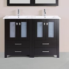 Lyn Modern 48 Double Bathroom Vanity Set by Latitude Run