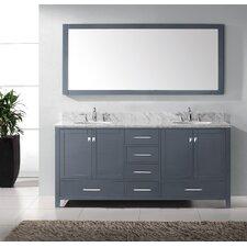 Caroline Avenue 72 Double Bathroom Vanity Set with Mirror by Virtu USA