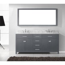 Caroline 72 Double Bathroom Vanity Set with Mirror by Virtu USA