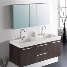 "Senza Opulento 54"" Double Bathroom Vanity Set with Mirror"
