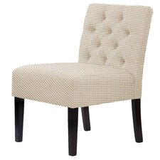 Lashbrook Hardwood Framed Cotton Slipper Chair