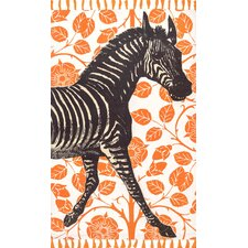 Hand-Woven Zebra Orange Area Rug