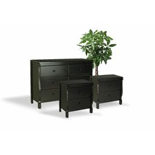 Bachelder Wood 3 Piece Dresser and Chest Set