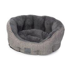 Hessian Bolster Cushion in Grey
