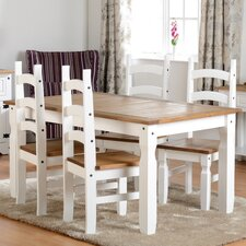 Angelina Dining Set with 4 Chairs
