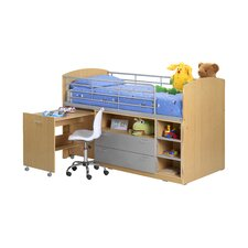 Single Mid Sleeper Bed with Storage