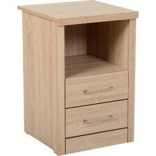 Keanu 2 Drawer Bedside Table