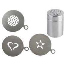 4 Piece Stencils and Shaker Set