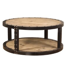 Colinton Aged Wood Iron Coffee Table by 17 Stories