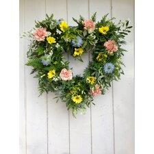 Flower Heart 47cm Ornament Wreath