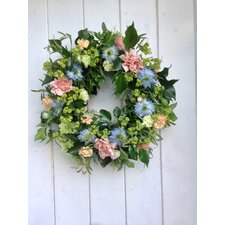 Country Garden Flower 40cm Ornament Wreath