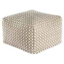 Roberta Geometric Pouf Ottoman by Bungalow Rose