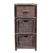 Sela Dennis Rattan Wicker 3 Drawer Storage Chest by Bayou Breeze