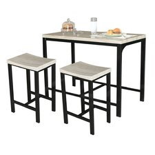 Biron 3 Piece Dining Set