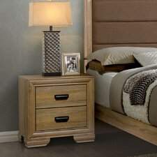 Campbell Contemporary 2 Drawer Nightstand by Union Rustic