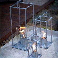 Hampton Steel and Tempered Glass Tabletop Lantern