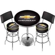 Chevrolet Game Room Combo 3 Piece Pub Table Set