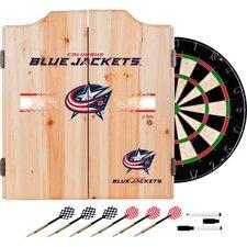 NHL Dartboard and Cabinet Set