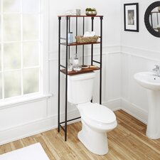 Warren Mixed Material 3-Tier 24 W x 66 H Over the Toilet Storage by Red Barrel Studio