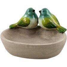 Bird Bath with Two Birds