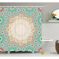 Damiane Antique Floral Mosaic Form Shower Curtain