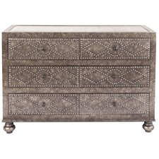 Candide Mottled Studded Double Dresser by Bungalow Rose