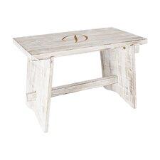 Cabrera Personalized Rustic Wood Garden Bench