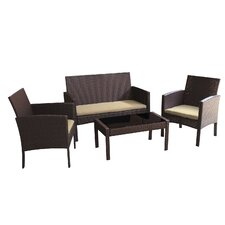 Sophia 4 Piece Deep Seating Group with Cushions