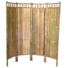 Brucknell 63 x 64 Bamboo Screen 4 Panel Room Divider by Bloomsbury Market