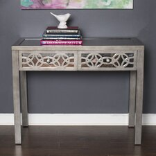 Azariah Mirrored 2 Drawer Console Table by Rosdorf Park