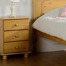 Dea 3 Drawer Bedside Table